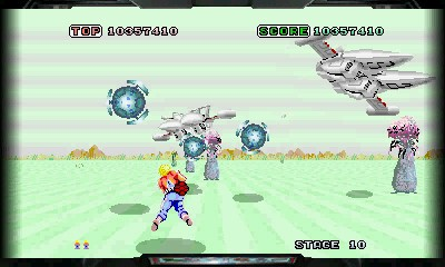 Space Harrier en images sur Nintendo 3DS | 2